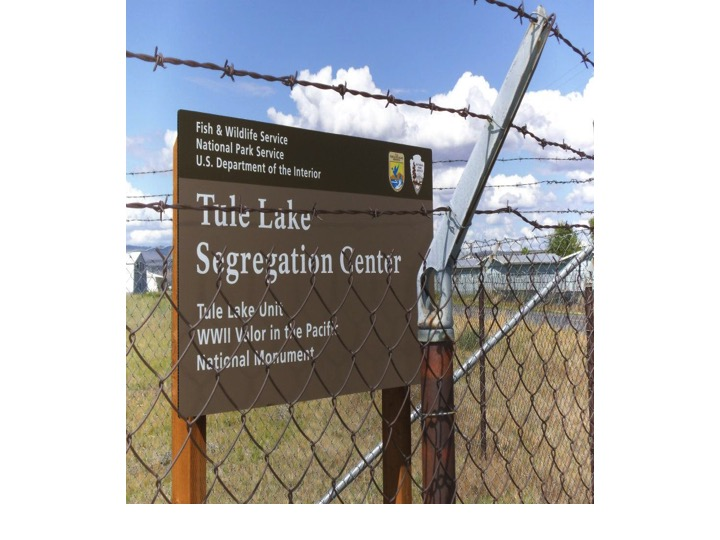 Tule Lake Fence and Sign