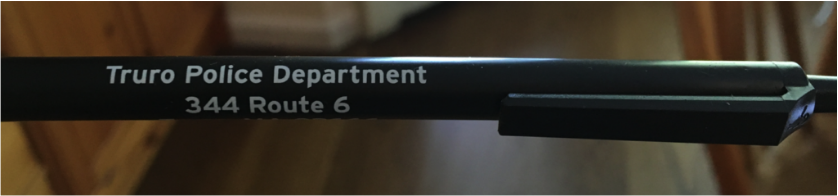 "Black pen labeled ""Truro Police Department\"""