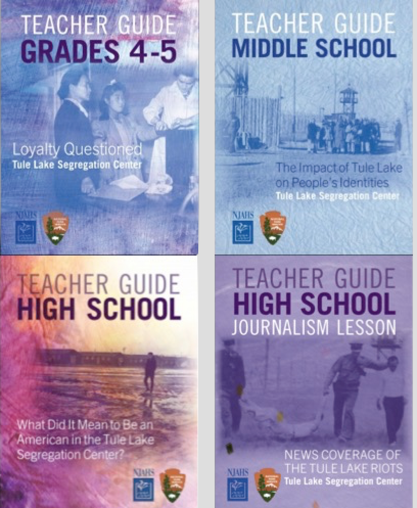 Cover pages  of the Tule Lake curricula grades 4 -- 11.