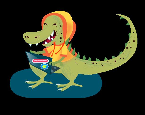 hackasaurus mascot