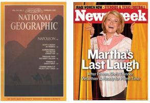 Nat Geo and Newsweek covers