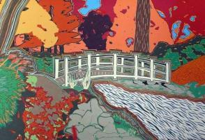 Colored Scene with Bridge
