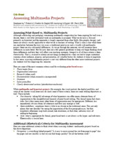 Assessing Multimedia Projects Crib Sheet